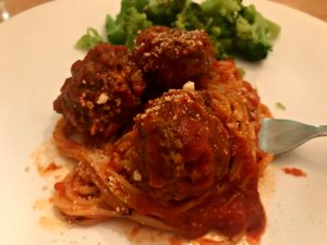 Cloudy with a Chance of Vegetarian Meatballs