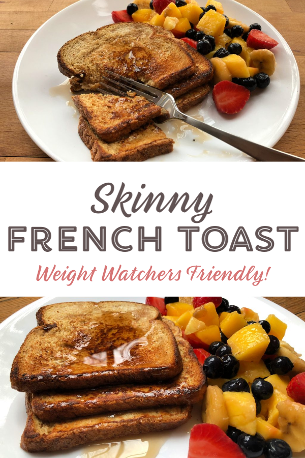 This Skinny French Toast is Weight Watchers friendly but it sure doesn't taste healthy! It's the perfect weekend breakfast, for staying satisfied and staying on track!