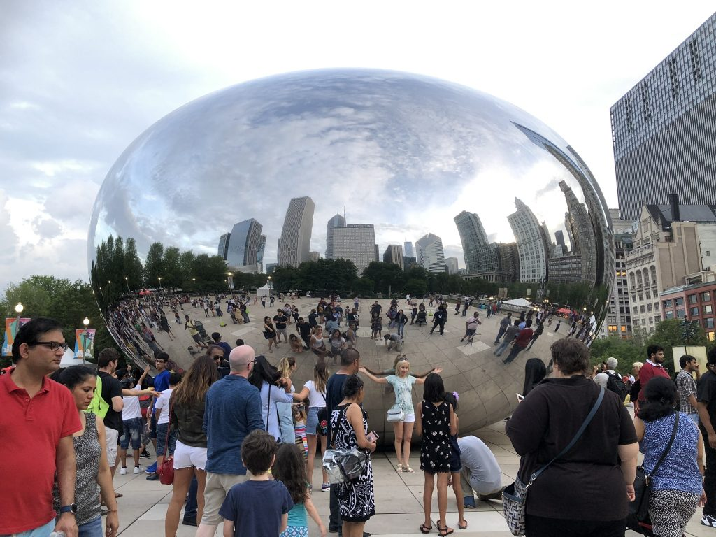 Family Travel to Chicago - The Bean